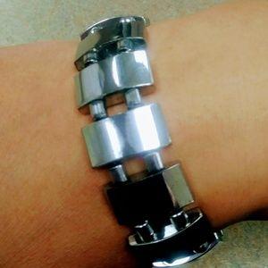 Men's Silver Magnetic Bracelet